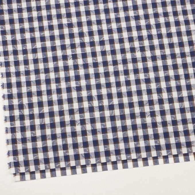 コットン×チェック(ネイビー&ブラウン)×ブロードジャガード_全2色 イメージ2