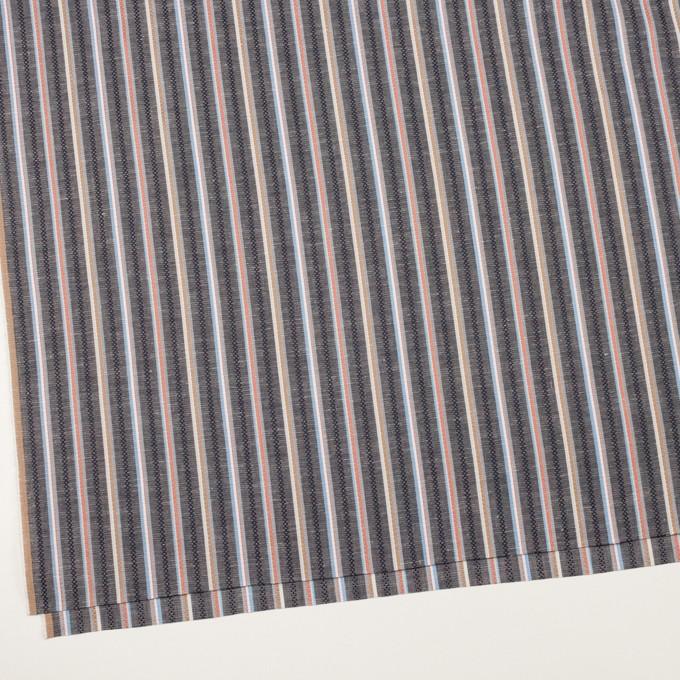 コットン×ストライプ(チャコールグレー)×シーチング・ドビー_全2色 イメージ2