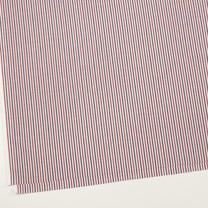 コットン×ストライプ(レッド&チャコール)×ブロード・ドビー_全2色 イメージ2