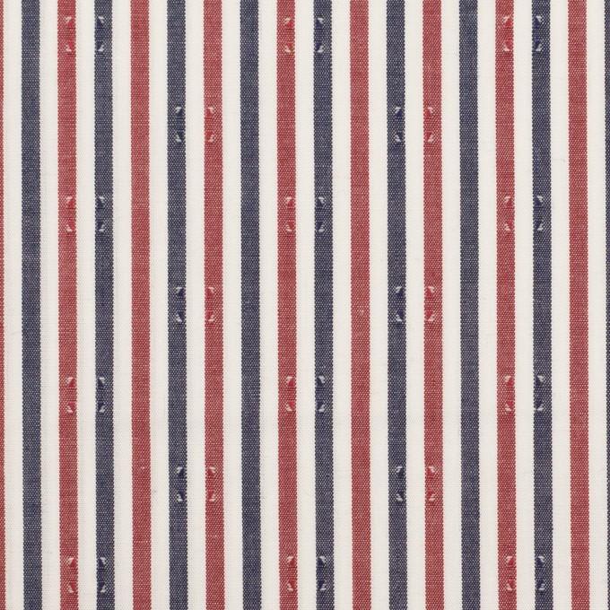 コットン×ストライプ(レッド&チャコール)×ブロード・ドビー_全2色 イメージ1