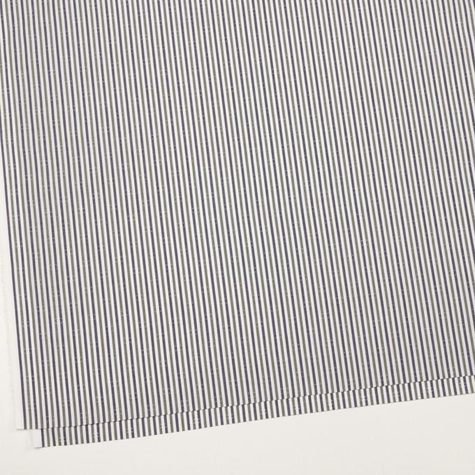 コットン×ストライプ(カーキグリーン&チャコール)×ブロード・ドビー_全2色 イメージ2