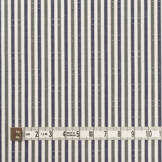 コットン×ストライプ(カーキグリーン&チャコール)×ブロード・ドビー_全2色 イメージ4
