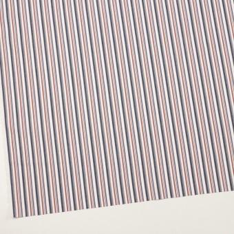 コットン×ストライプ(チャコール、レッド&ブルー)×ブロード_全2色 サムネイル2