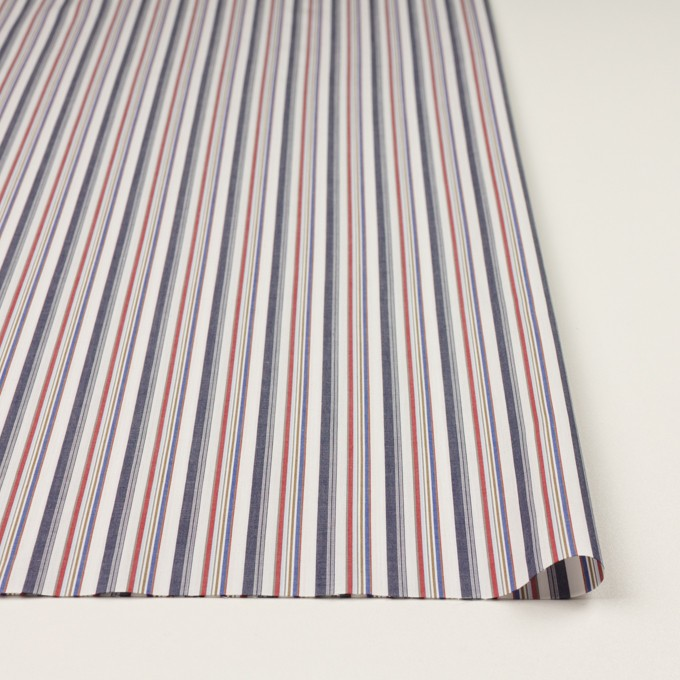 コットン×ストライプ(チャコール、レッド&ブルー)×ブロード_全2色 イメージ3
