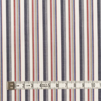 コットン×ストライプ(チャコール、レッド&ブルー)×ブロード_全2色 サムネイル4