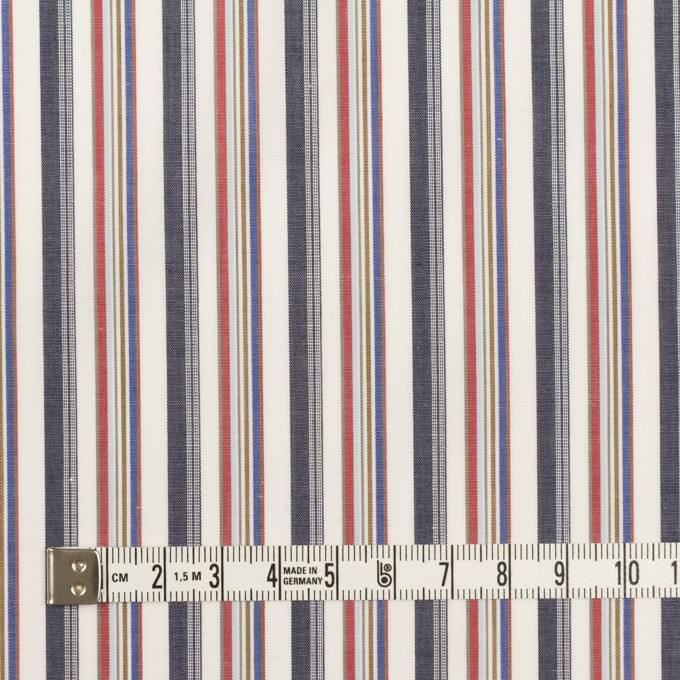 コットン×ストライプ(チャコール、レッド&ブルー)×ブロード_全2色 イメージ4