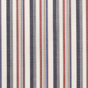 コットン×ストライプ(チャコール、レッド&ブルー)×ブロード_全2色 サムネイル1