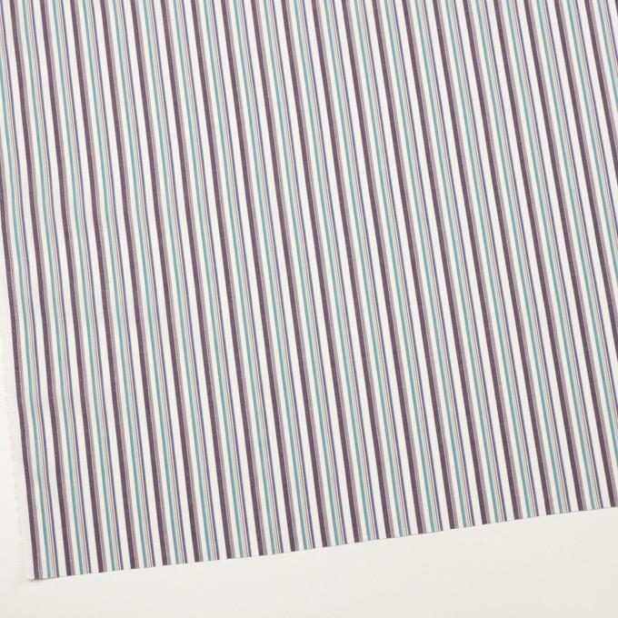 コットン×ストライプ(アッシュブラウン、エメラルド&ネイビー)×ブロード_全2色 イメージ2