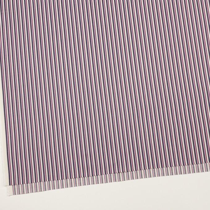 コットン×ストライプ(チェリー、ブルー&ブラウン)×ブロード_全2色 イメージ2
