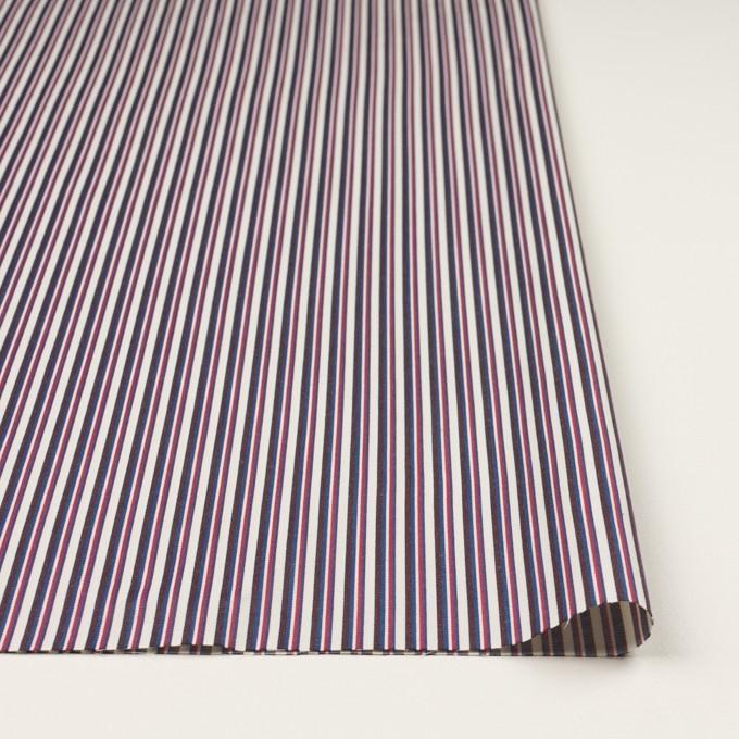 コットン×ストライプ(チェリー、ブルー&ブラウン)×ブロード_全2色 イメージ3