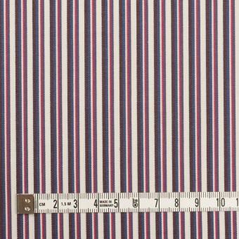コットン×ストライプ(チェリー、ブルー&ブラウン)×ブロード_全2色 サムネイル4