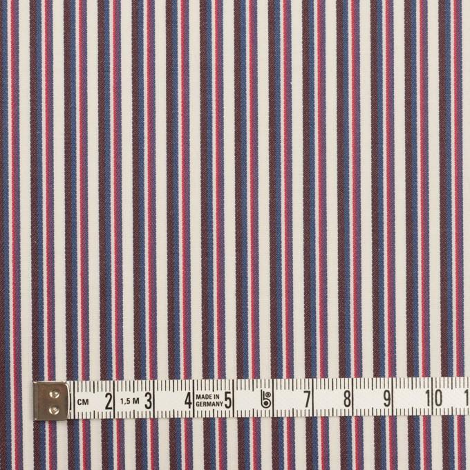 コットン×ストライプ(チェリー、ブルー&ブラウン)×ブロード_全2色 イメージ4
