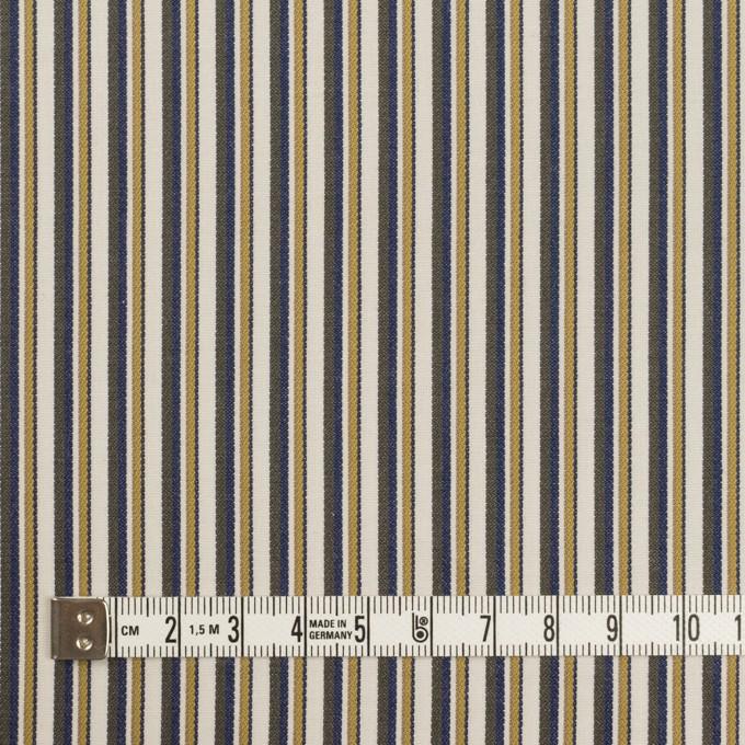 コットン×ストライプ(マスタード、ネイビー&カーキグリーン)×ブロード_全2色 イメージ4
