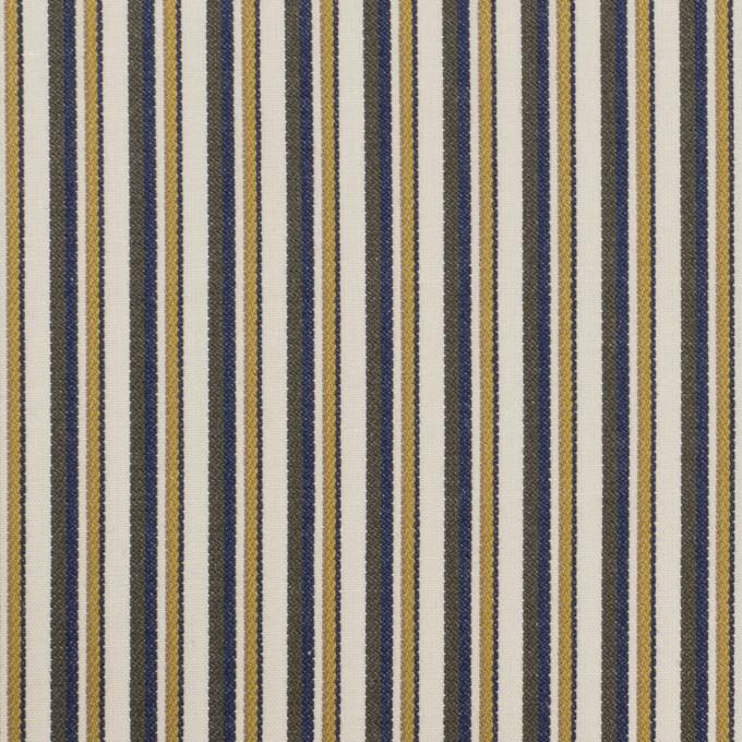 コットン×ストライプ(マスタード、ネイビー&カーキグリーン)×ブロード_全2色 イメージ1