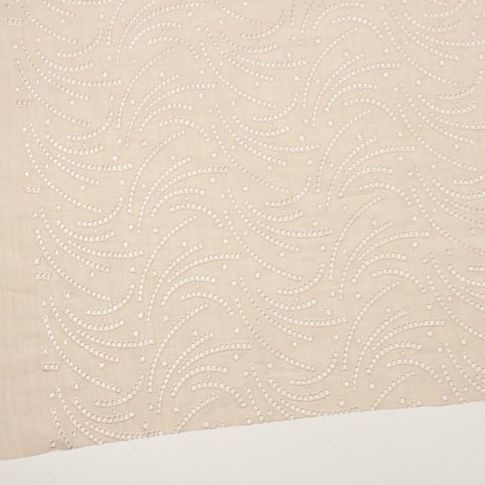 リネン&ポリエステル×幾何学模様(エクリュ)×ボイル刺繍_全2色 イメージ2