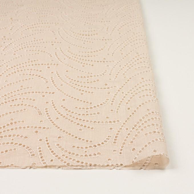 リネン&ポリエステル×幾何学模様(エクリュ)×ボイル刺繍_全2色 イメージ3