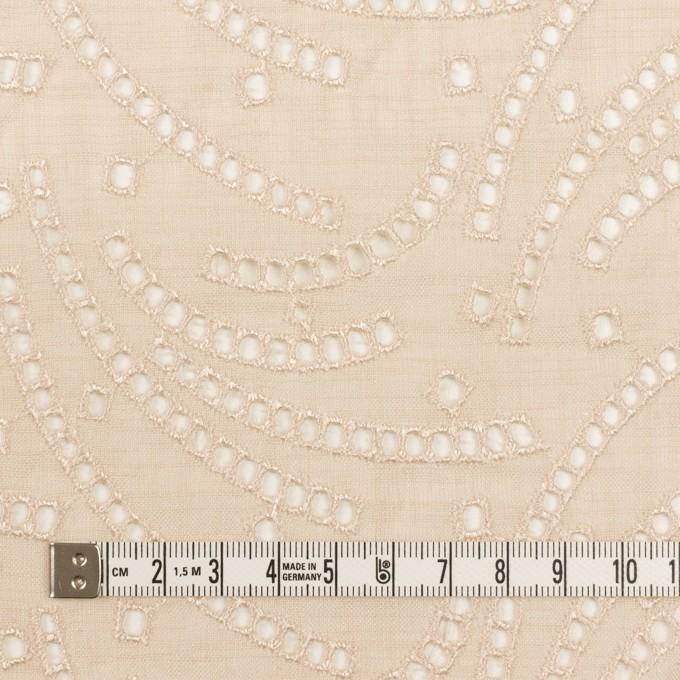 リネン&ポリエステル×幾何学模様(エクリュ)×ボイル刺繍_全2色 イメージ4