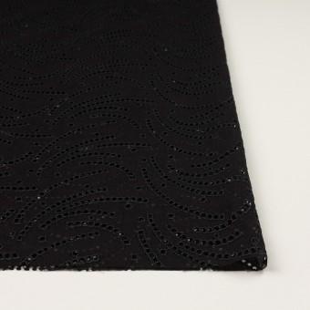 リネン&ポリエステル×幾何学模様(ブラック)×ボイル刺繍_全2色 サムネイル3