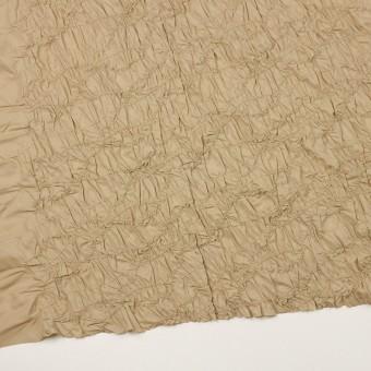 ポリエステル×幾何学模様(カーキベージュ)×タフタシャーリング刺繍 サムネイル2