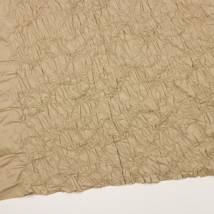 ポリエステル×幾何学模様(カーキベージュ)×タフタシャーリング刺繍 イメージ2