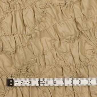 ポリエステル×幾何学模様(カーキベージュ)×タフタシャーリング刺繍 サムネイル4