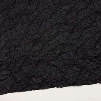ポリエステル×幾何学模様(ブラック)×タフタシャーリング刺繍 サムネイル2