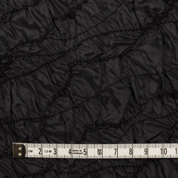 ポリエステル×幾何学模様(ブラック)×タフタシャーリング刺繍 イメージ4