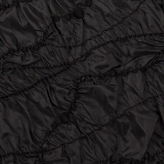 ポリエステル×幾何学模様(ブラック)×タフタシャーリング刺繍
