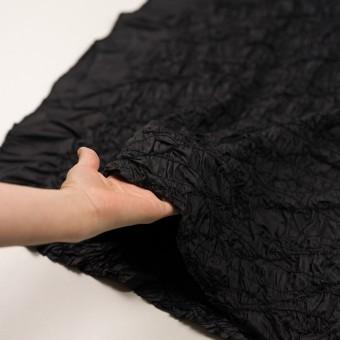 ポリエステル×幾何学模様(ブラック)×タフタシャーリング刺繍 サムネイル5