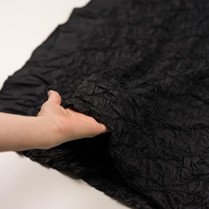 ポリエステル×幾何学模様(ブラック)×タフタシャーリング刺繍 イメージ5