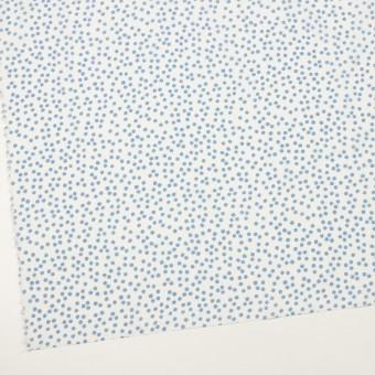 コットン×水玉(オフホワイト&ゼニスブルー)×ローン_全6色 サムネイル2