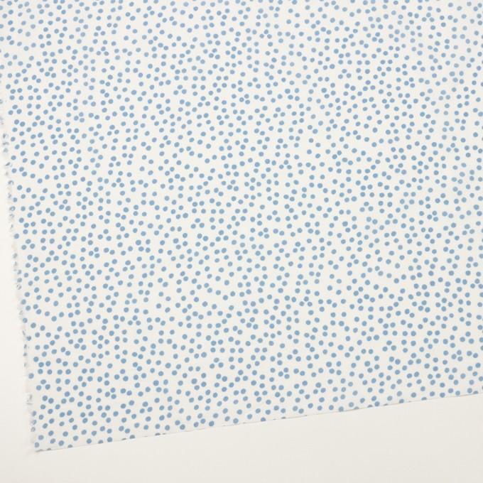 コットン×水玉(オフホワイト&ゼニスブルー)×ローン_全6色 イメージ2