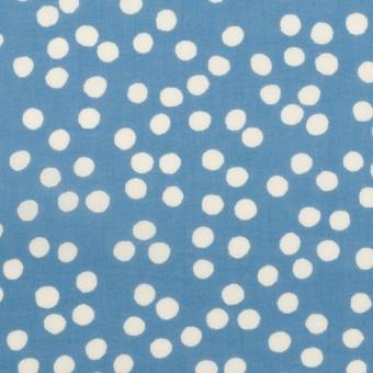 コットン×水玉(ゼニスブルー&オフホワイト)×ローン_全6色