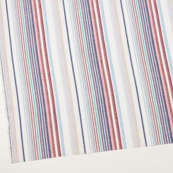 コットン&リネン×ストライプ(バーガンディー&ネイビー)×薄キャンバス・ジャガード_全2色 サムネイル2