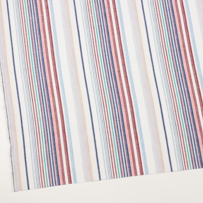 コットン&リネン×ストライプ(バーガンディー&ネイビー)×薄キャンバス・ジャガード_全2色 イメージ2