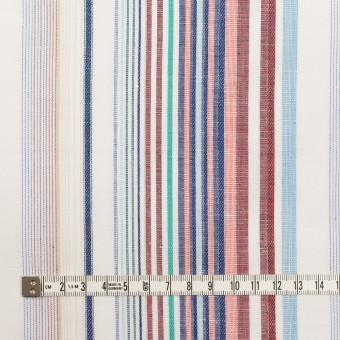 コットン&リネン×ストライプ(バーガンディー&ネイビー)×薄キャンバス・ジャガード_全2色 サムネイル4