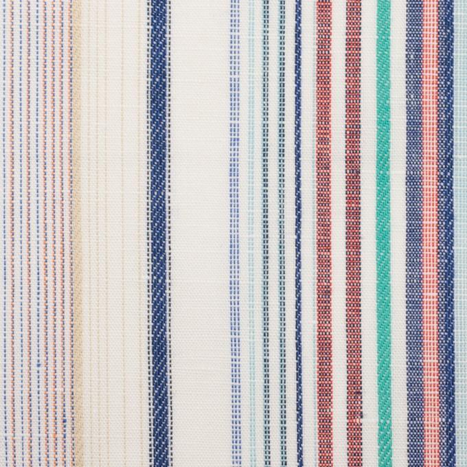 コットン&リネン×ストライプ(バーガンディー&ネイビー)×薄キャンバス・ジャガード_全2色 イメージ1
