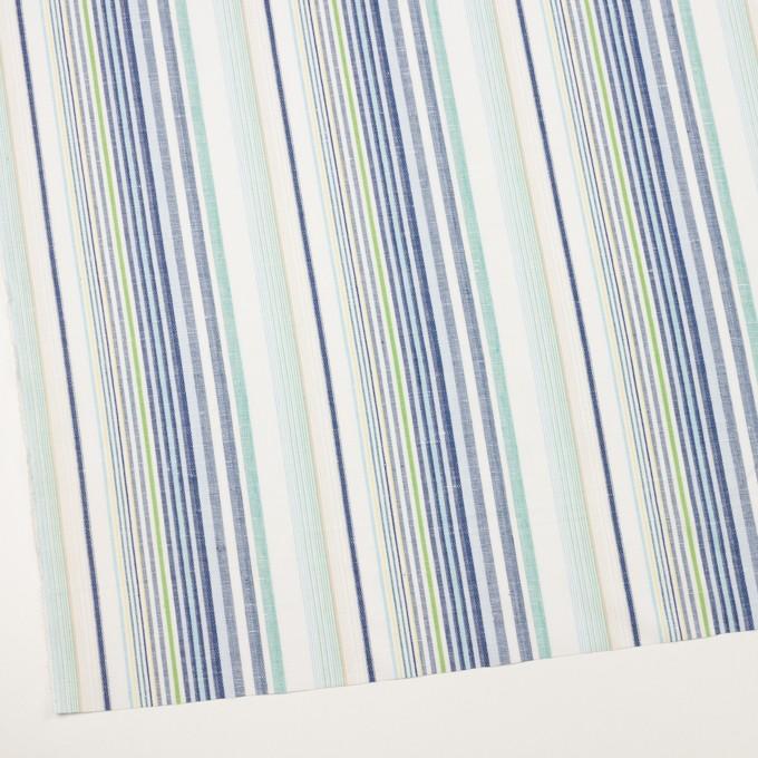 コットン&リネン×ストライプ(エメラルド&ネイビー)×薄キャンバス・ジャガード_全2色 イメージ2
