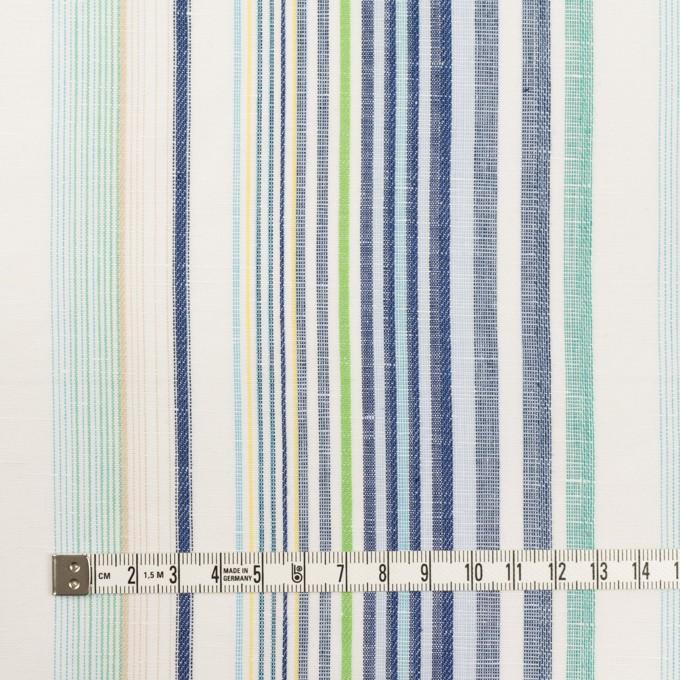 コットン&リネン×ストライプ(エメラルド&ネイビー)×薄キャンバス・ジャガード_全2色 イメージ4