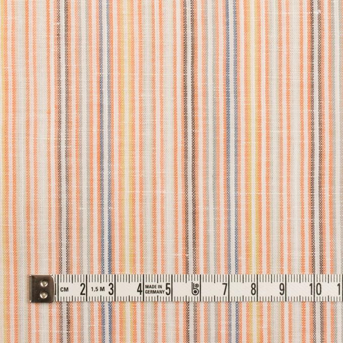 リネン&コットン×ストライプ(オレンジミックス)×薄キャンバス イメージ4