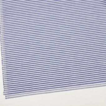 コットン&リネン×ボーダー(ネイビー)×薄サージ サムネイル2