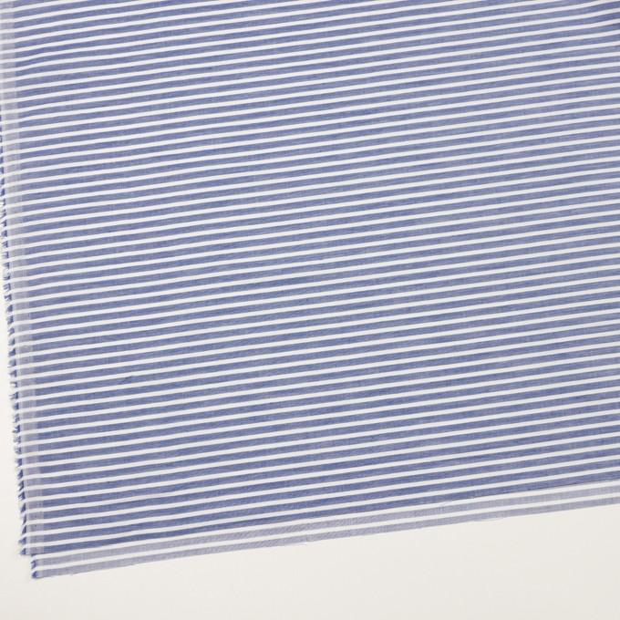 コットン&リネン×ボーダー(ネイビー)×薄サージ イメージ2