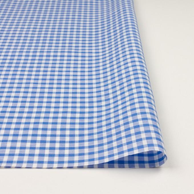 コットン&リネン×チェック(ブルー)×薄シーチング イメージ3