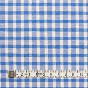 コットン&リネン×チェック(ブルー)×薄シーチング サムネイル4