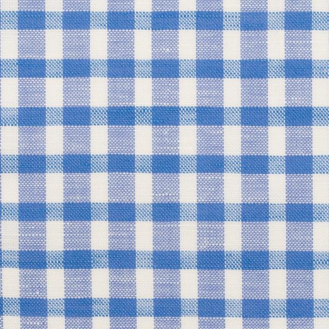 コットン&リネン×チェック(ブルー)×薄シーチング イメージ1