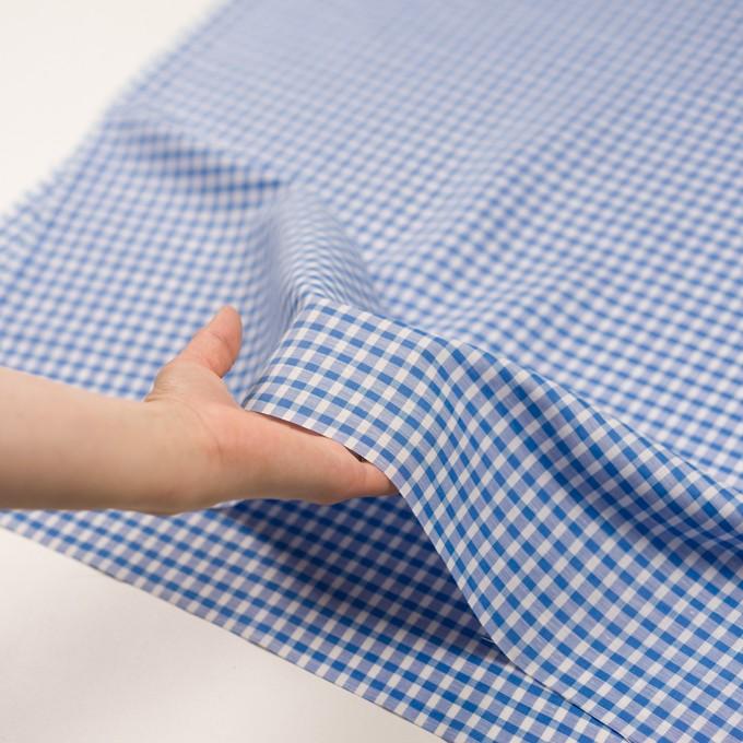 コットン&リネン×チェック(ブルー)×薄シーチング イメージ5