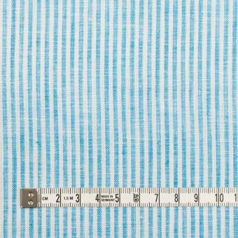 リネン&コットン×ストライプ(スカイブルー)×薄キャンバス_全2色 サムネイル4