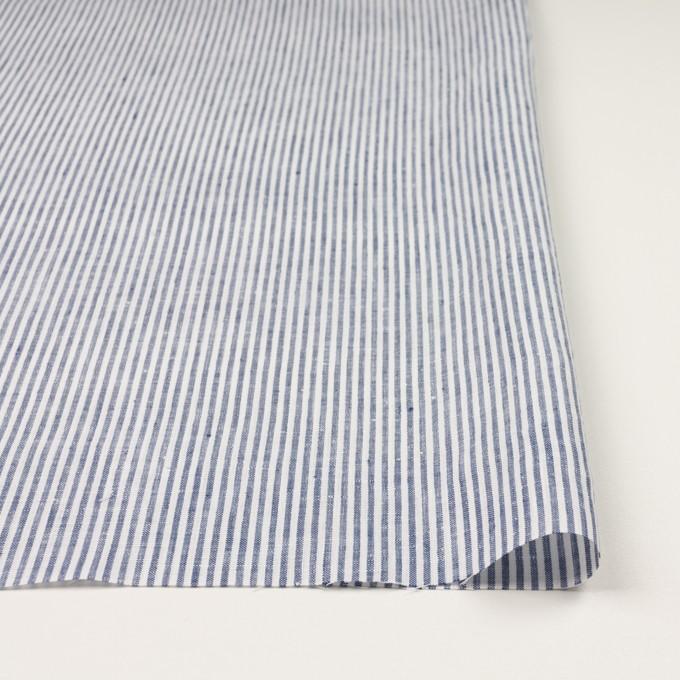 リネン&コットン×ストライプ(ネイビー)×薄キャンバス_全2色 イメージ3