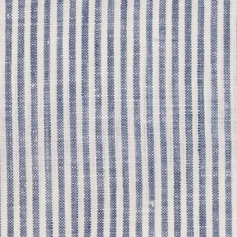 リネン&コットン×ストライプ(ネイビー)×薄キャンバス_全2色