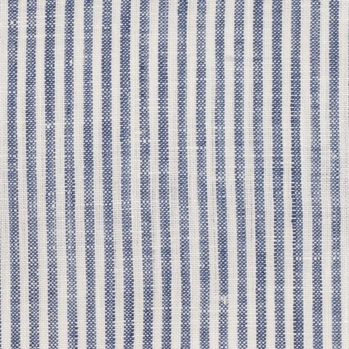 リネン&コットン×ストライプ(ネイビー)×薄キャンバス_全2色 イメージ1